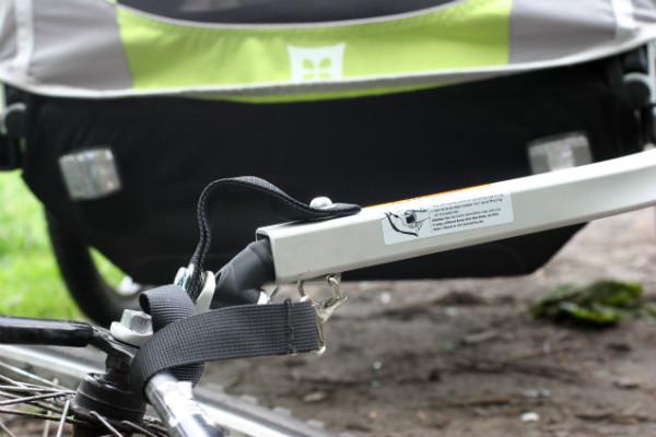 Mocowanie do roweru w przyczepce Burley D'Lite.