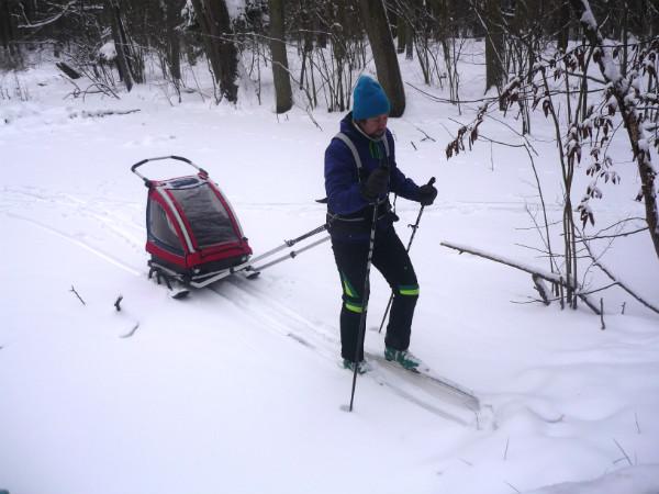 Nordic Cab Explorer z płozami.